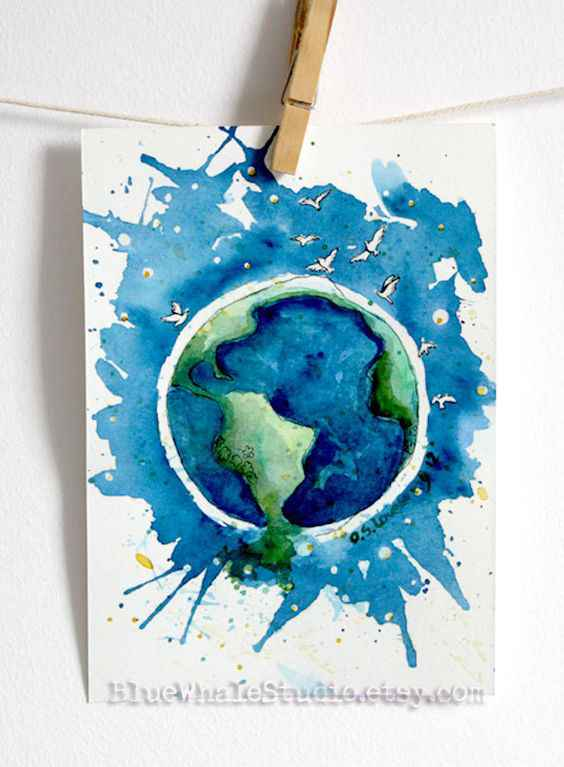 Earth Drawing Ideas