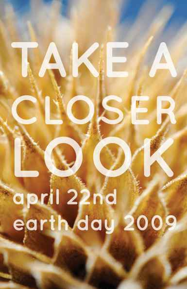 Take a closer look earth day poster