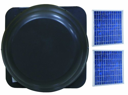 Brightwatts solar gable attic fan