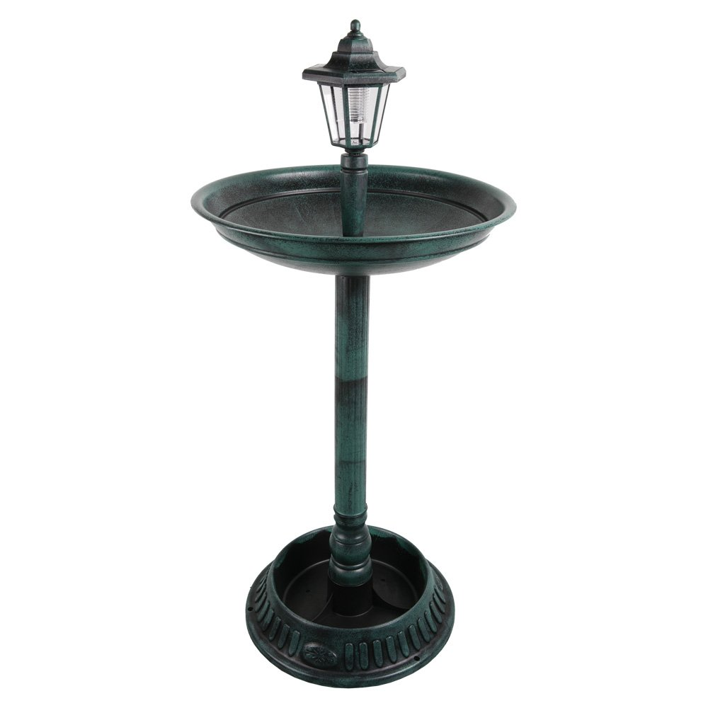 Heartland solar bird bath with elegant design
