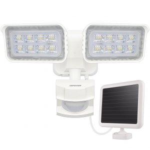 LEPOWER solar flood lights that are sensor lights
