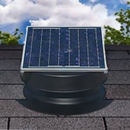 efficient Natural Light solar powered fan for attic area