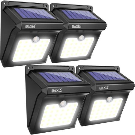 4 packages solar flood light by BAXIA technology