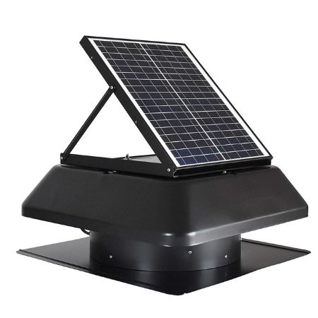 iLiving attic solar powered fan with exhaust