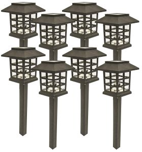 Solar landscaping driveway light