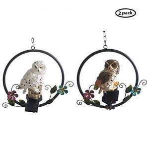 YUIOP Owl shaped solar hanging lights