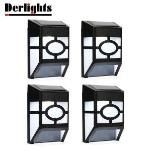 Derlights solar fence light for landscaping