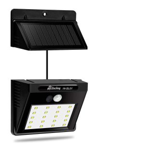 Hiluckey solar fence lights for outdoors