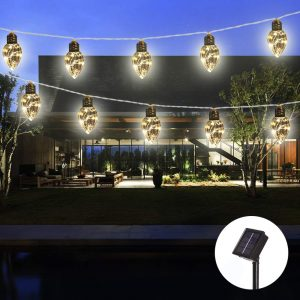 Obrecis waterproof solar string lights