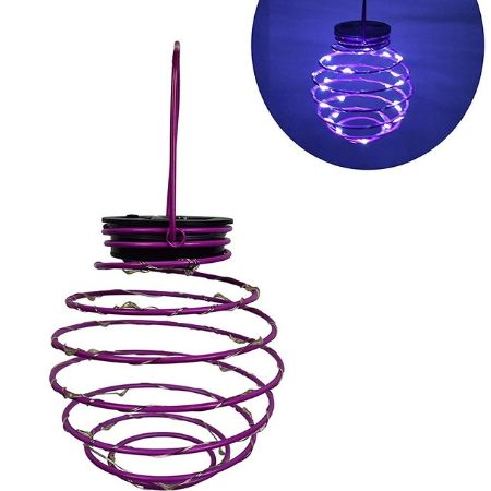 Roaming light spiral-shaped hanging lanterns